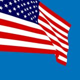 American flag vector illustration Royalty Free Stock Photography