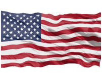 American flag. Vector image on white background vector illustration