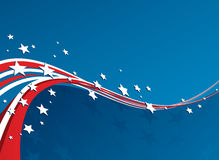 American Flag, Vector patriotic background Stock Photography