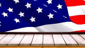 American flag video stock video