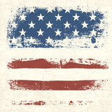 American flag vintage textured background. Royalty Free Stock Photo