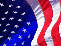 American Flag Wave royalty free stock photo