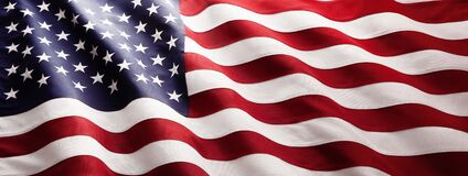 Free American Flag Wave Close Up Stock Photography - 176155152