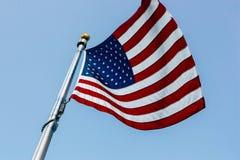 American flag. Waving american flag Stock Image