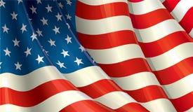 American Flag Waving. Clean cut design of a Waving American flag Royalty Free Stock Photo