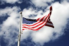 American Flag Waving. View of American Flag Waving Stock Photos