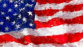 American flag waving abstract art. Beautiful abstract background of waving America flag Royalty Free Stock Image