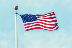 The American flag Stock Photography