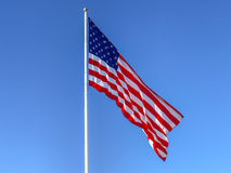 American flag waving. stock photos