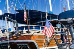 American flag waving Royalty Free Stock Photo