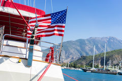 American flag waving Stock Photography