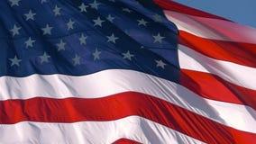 American flag waving. Full frame slow motion