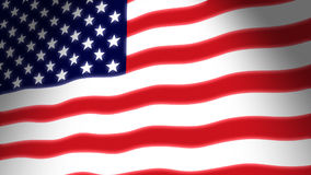American Flag Waving. Glowing and waving USA flag. This animation is pinned on the left, gives the movement a true flag on pole feel. Seamless loop, make it as stock video footage