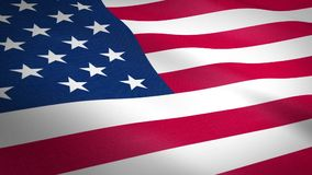 American Flag waving with highly detailed fabric texture seamless loop video . Realistic High Quality Render. United