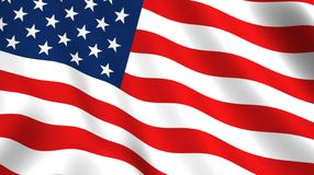 Free American Flag Waving In The Wind Isolated USA Royalty Free Stock Image - 157940226