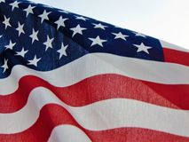 Free American Flag Waving In Wind Stock Photos - 120571163