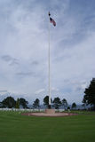 American flag waving at a Normandy war cemetery Stock Photography