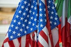 American flag waving Stock Image