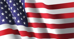 American Flag waving. Waving flag of united state of america background Royalty Free Stock Images