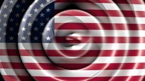 American flag waving. The USA flag waving with circular shapes stock video
