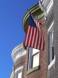 American Flag Waving in the wind stock photo
