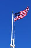 American flag waving in the wind Stock Photos