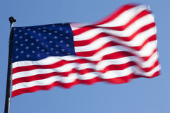 The American flag. Waving in the wind Stock Image