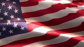 American Flag waving in the wind stock video footage