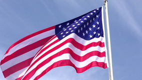 American Flag. Waving in the wind, 4Kvideo stock footage