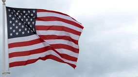 American Flag Waving in the Wind,. Slow Motion stock video footage