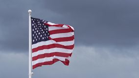 American Flag Waving in the Wind,. Slow Motion stock video