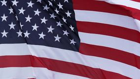 American Flag Waving in the Wind, stock video footage