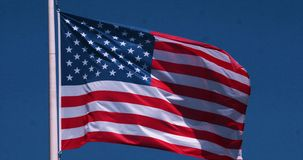 American flag waving in the wind, slow motion vector illustration