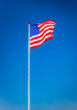 American flag waving in the wind, USA Royalty Free Stock Photography
