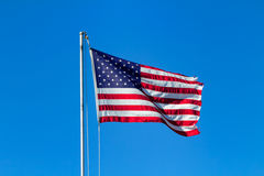 American flag waving in the wind Royalty Free Stock Image