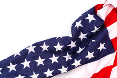 American flag on white background . Stock Photo