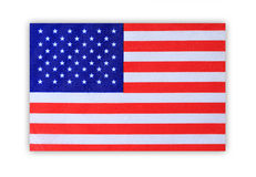 American flag  on white background . Royalty Free Stock Images