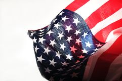 American flag on white Royalty Free Stock Image