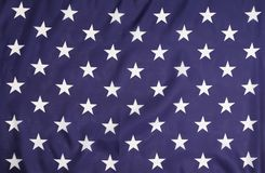American flag with white stars. Royalty Free Stock Photography