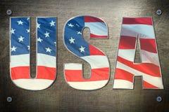 American flag win concept Stock Photos