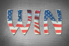 American flag win concept Stock Image