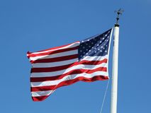 The American Flag in the wind royalty free stock photography