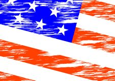 American flag in wind Stock Photos