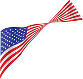 American Flag in the Wind. Illustration of an American Flag in a brisk wind royalty free illustration