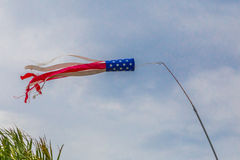 American Flag Wind Sock Stock Image