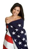 American Flag Woman Stock Photos