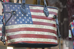 American flag woman bag Stock Photo