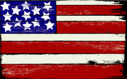 American Flag on Wood. Old Wooden sign with the American Flag painted on it royalty free illustration