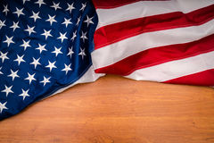 American flag on wood background. Stock Photography