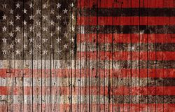 American Flag on Wood Royalty Free Stock Photography